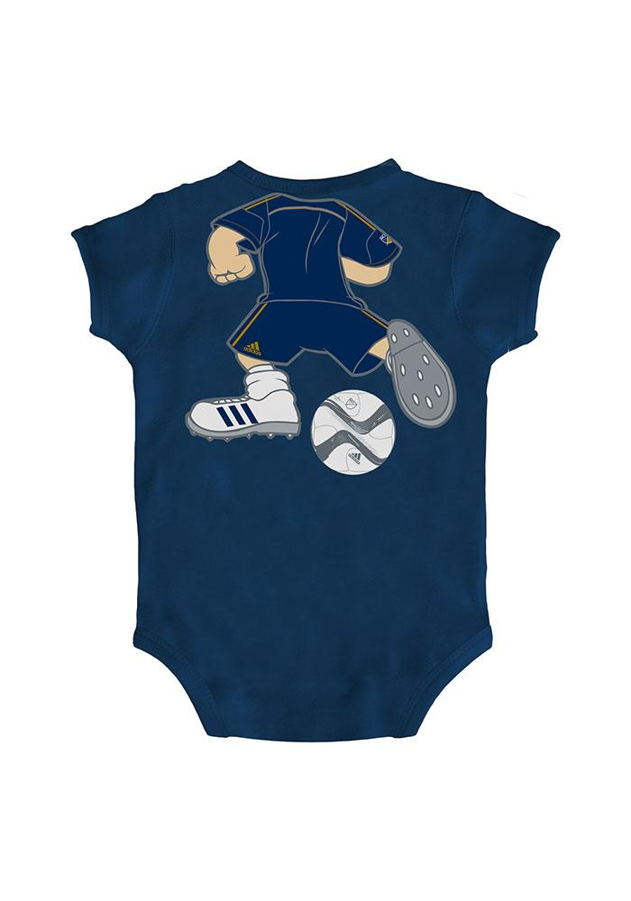 Philadelphia Union Baby Navy Blue Dream Job One Piece Short Sleeve One Piece - Image 2