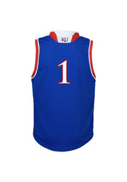 KU Jayhawks Toddler Blue #1 Replica Basketball Jersey