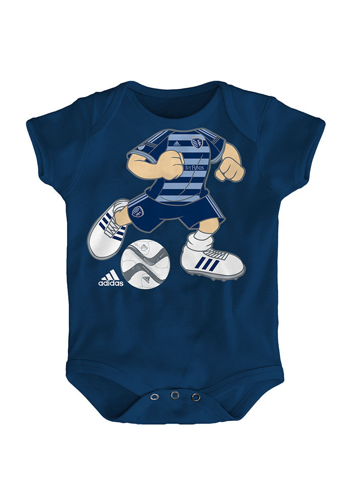 Sporting Kansas City Baby Navy Blue Dream Job Short Sleeve One Piece - Image 1