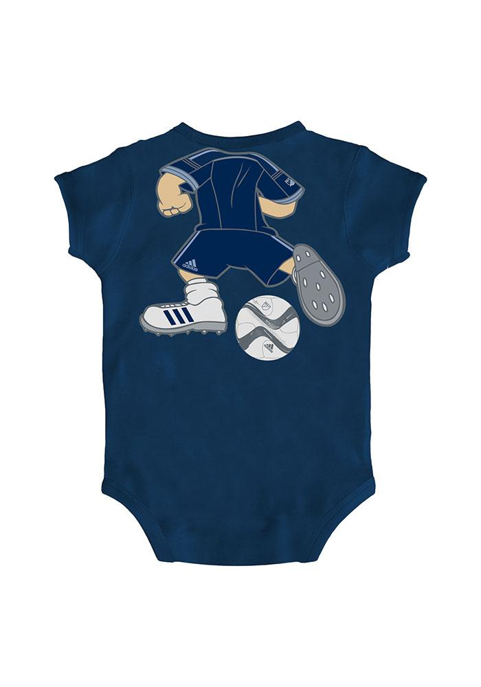 Sporting Kansas City Baby Navy Blue Dream Job Short Sleeve One Piece - Image 2