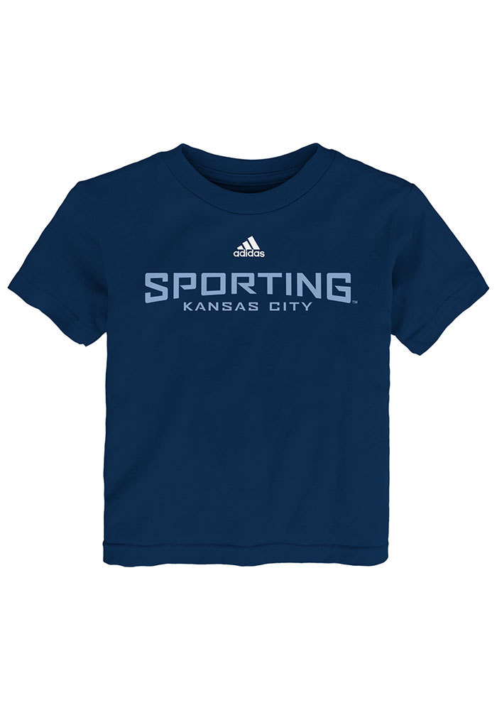 Sporting Kansas City Youth Navy Blue Primary Wordmark Short Sleeve T-Shirt - Image 1