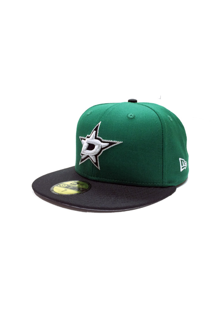 New Era Dallas Stars Mens Green 59FIFTY Fitted Hat - Image 1