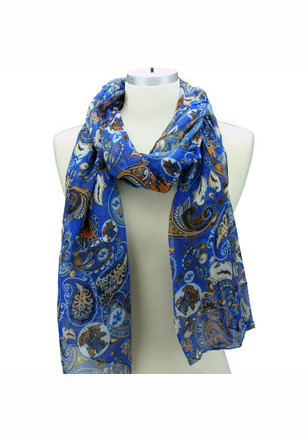 Kentucky Wildcats Paisley Logo Womens Scarf