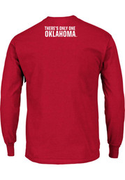 Majestic Oklahoma Mens Red Only One Tee