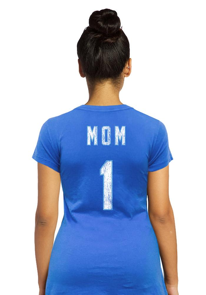 Kansas City Royals Womens Blue Mothers Day Scoop T-Shirt - Image 2