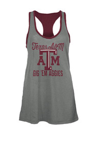 Texas A&M Aggies Juniors Grey Noelle Tank Top