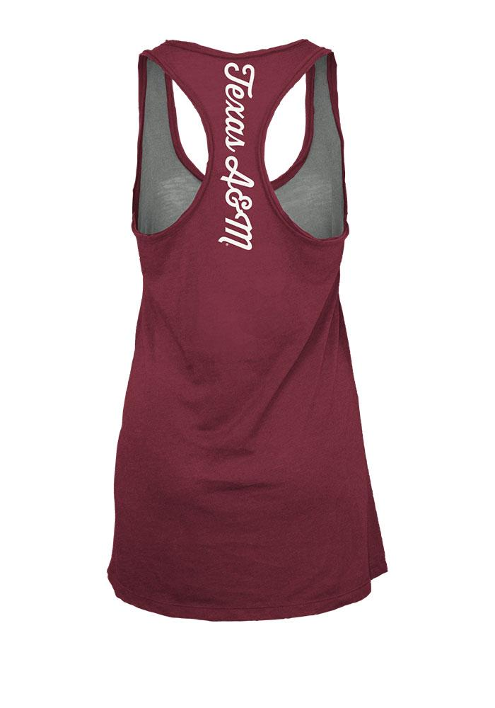 Texas A&M Aggies Juniors Grey Noelle Tank Top - Image 3