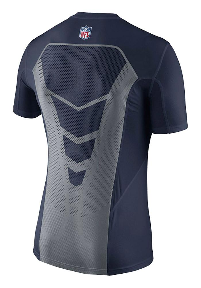 Dallas Cowboys Navy Blue Hypercool Fitted Short Sleeve T Shirt - Image 3