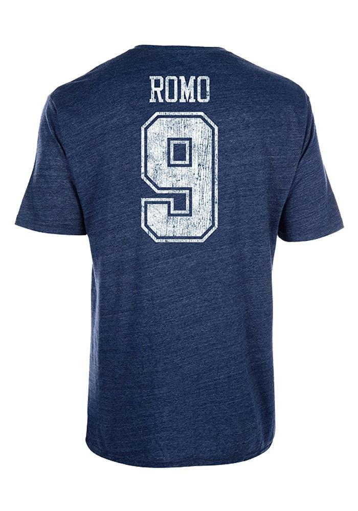 Tony Romo Dallas Cowboys Mens Navy Blue Landon Short Sleeve Player T Shirt - Image 1