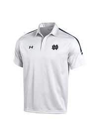 Under Armour Notre Dame Fighting Irish Mens White Huddle Short Sleeve Polo Shirt