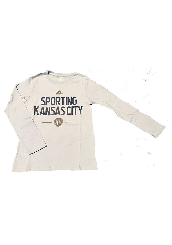 Sporting Kansas City Youth Light Blue Cotton Tee Long Sleeve T-Shirt - Image 1