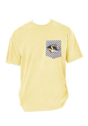 Missouri Tigers Womens Yellow Comfort Colors Unisex Tee
