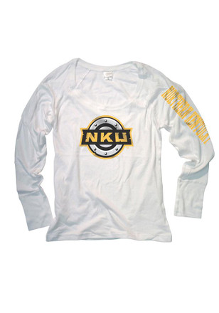 Northern Kentucky Norse Womens Cotton Jersey White Scoop Neck Tee