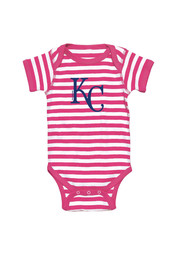 Kansas City Royals Baby Pink Infant Girls Striped One Piece