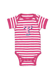 Texas Rangers Baby Pink Infant Girl Striped One Piece