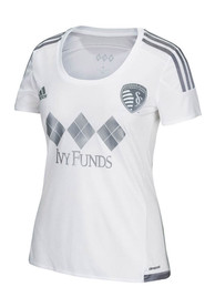Sporting Kansas City Womens Adidas Replica Third 2015 Replica Soccer - White