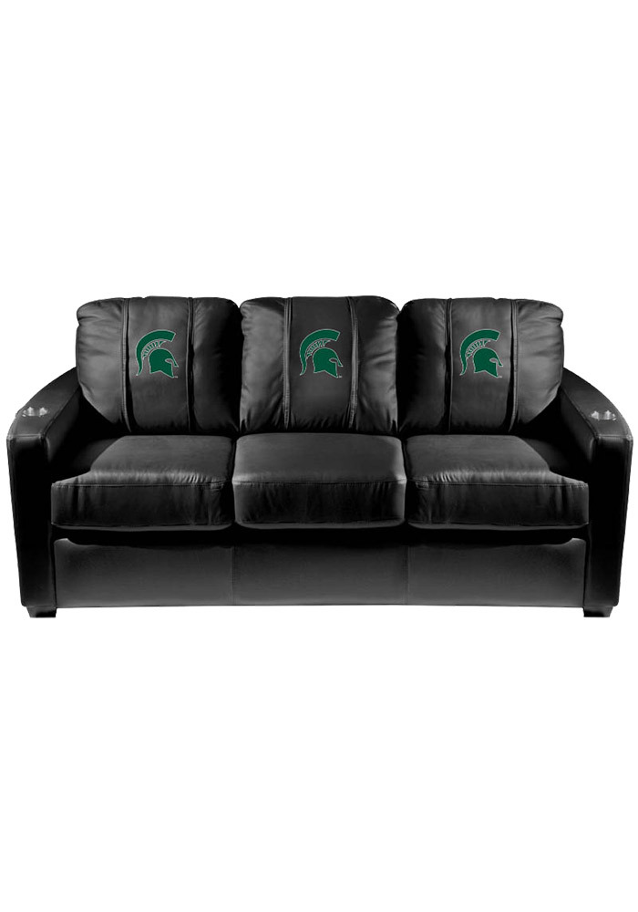 Michigan State Spartans Leather Sofa - Image 1