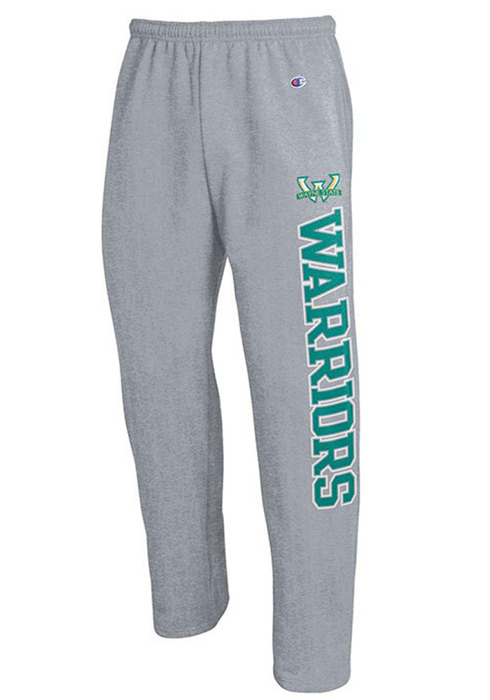 Champion Wayne State Warriors Mens Grey Open Bottom Sweatpants - Image 1