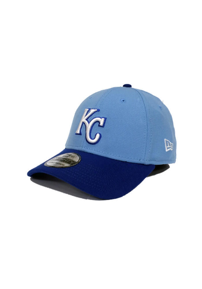 New Era Kansas City Royals Mens Blue Team Classic Flex Hat - Image 1