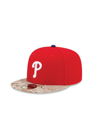 Philadelphia Phillies New Era Mens Red 2015 Memorial Day Fitted Hat