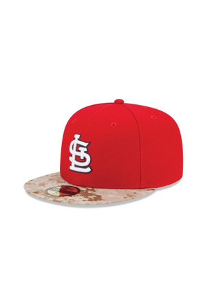 St Louis Cardinals New Era Mens Red 2015 Memorial Day Fitted Hat