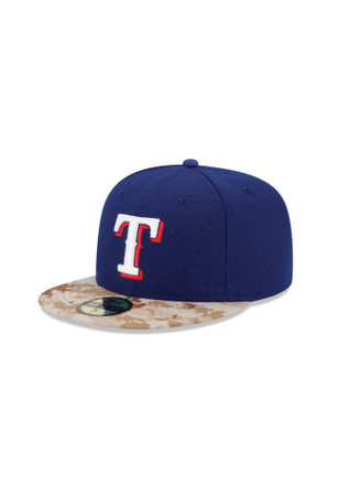 Texas Rangers New Era Mens Blue 2015 Memorial Day Fitted Hat
