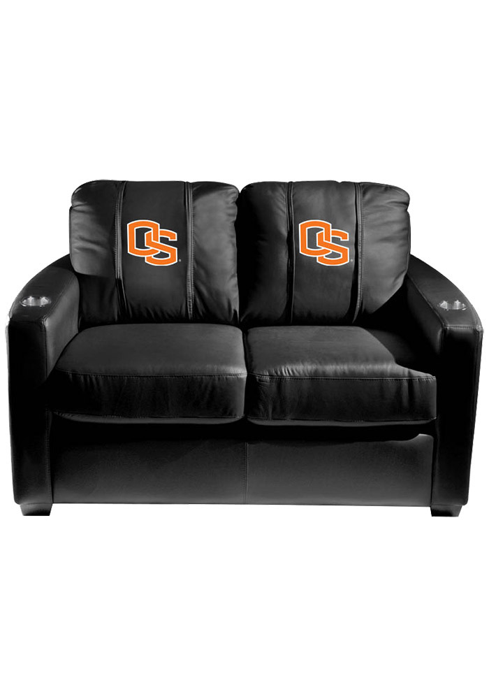 Oregon State Beavers Leather Love Seat - Image 1