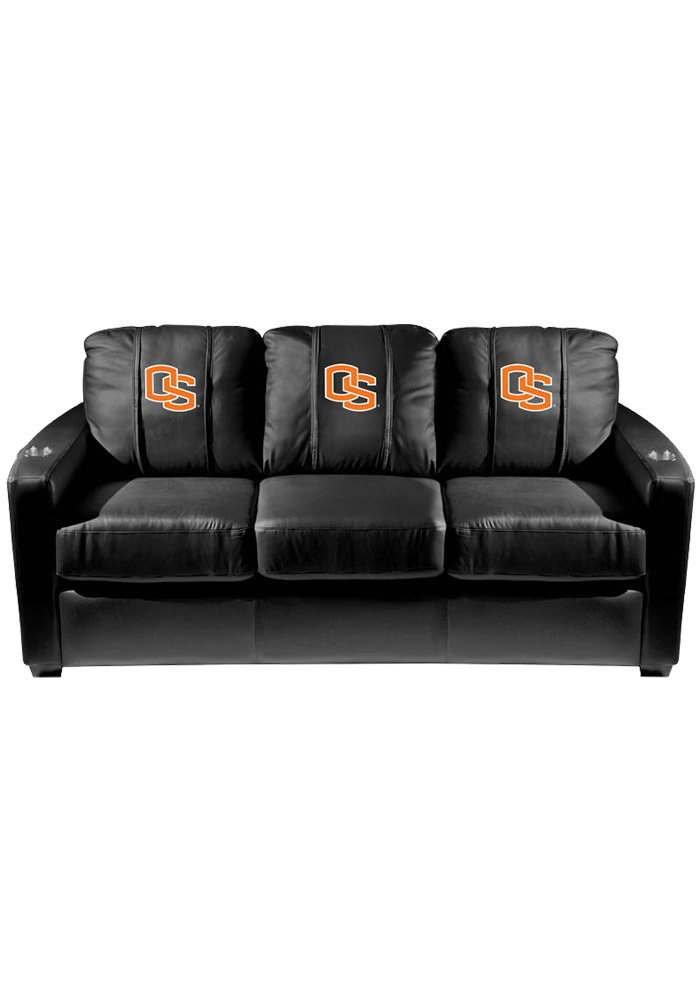 Oregon State Beavers Leather Sofa - Image 1