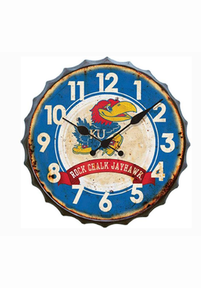 Kansas Jayhawks Bottle Cap Wall Clock - Image 1