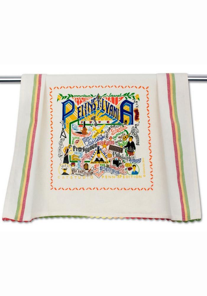 Pennsylvania Printed and Embroidered Towel - Image 1