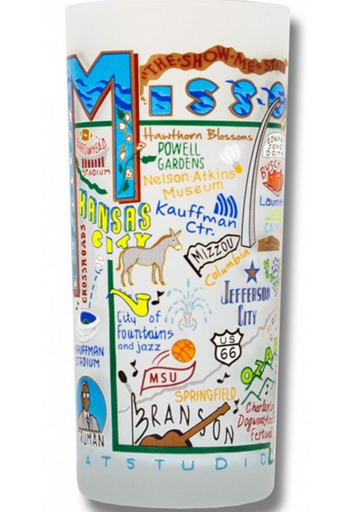 MIssouri 15oz Frosted Pint Glass - Image 1