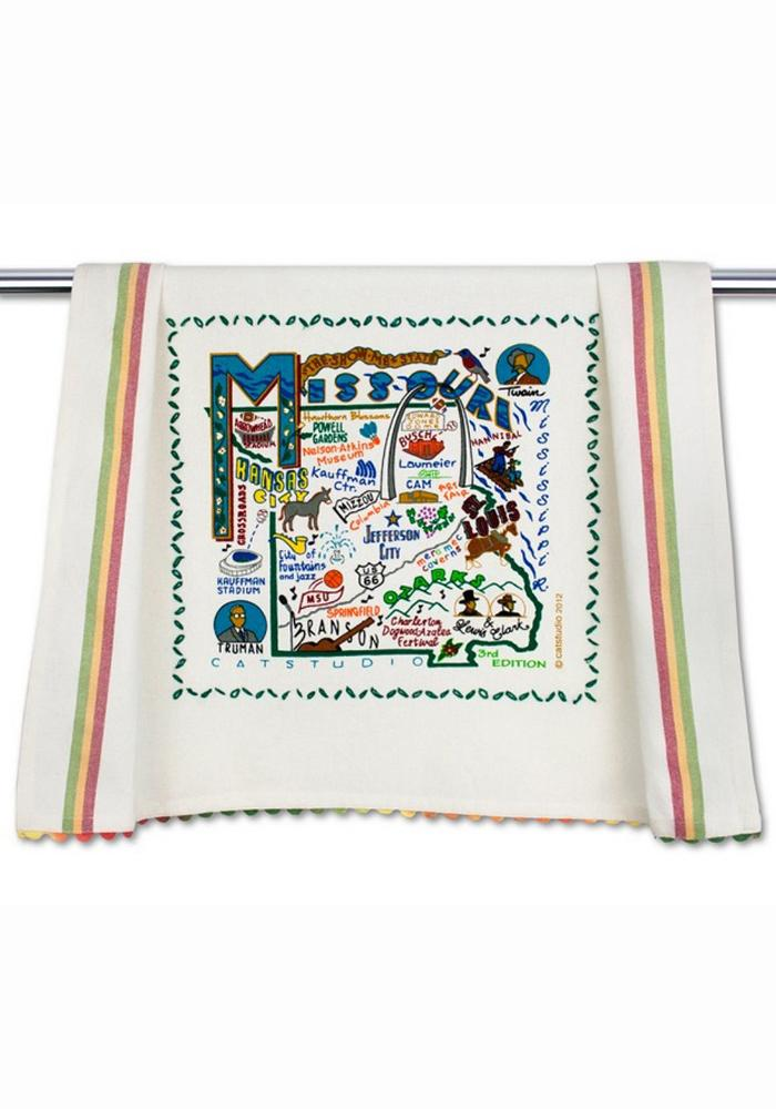 Missouri Printed and Embroidered Towel - Image 1