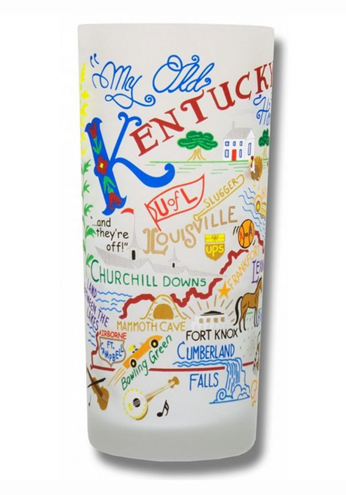 Kentucky 15oz Frosted Pint Glass - Image 1