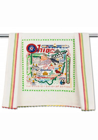 Ohio Printed and Embroidered Towel
