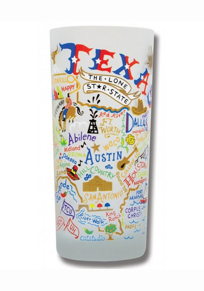 Texas 15oz Frosted Pint Glass - Image 1