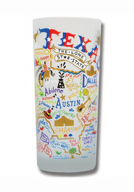 Texas 15oz Frosted Pint Glass