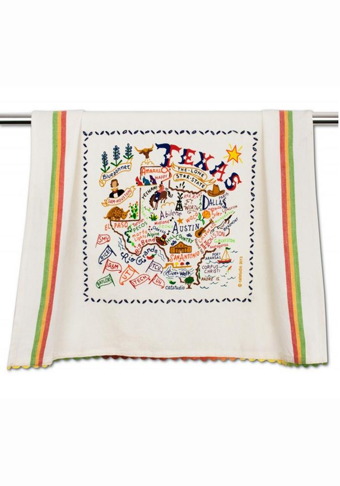 Texas Printed and Embroidered Towel - Image 1