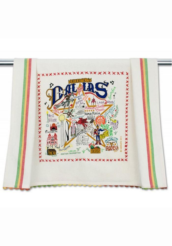 Dallas Printed And Embroidered Towel 4952012