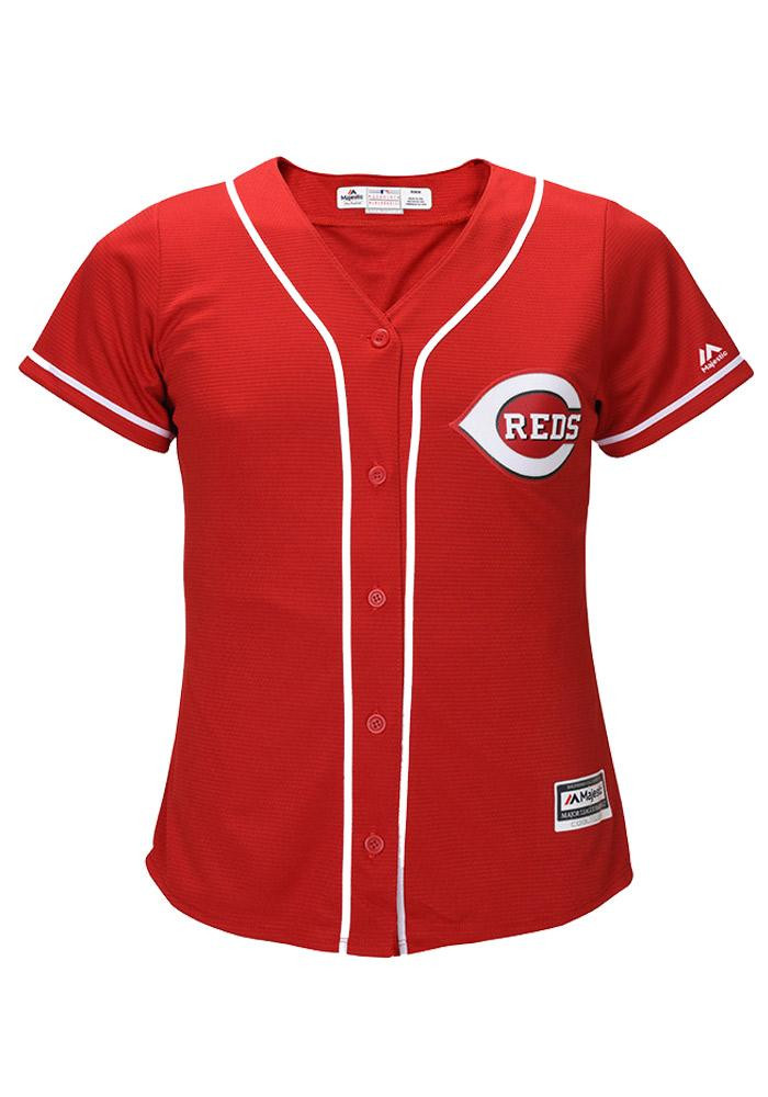 Cincinnati Reds Womens Majestic Replica Cool Base Jersey Jersey - Red - Image 2