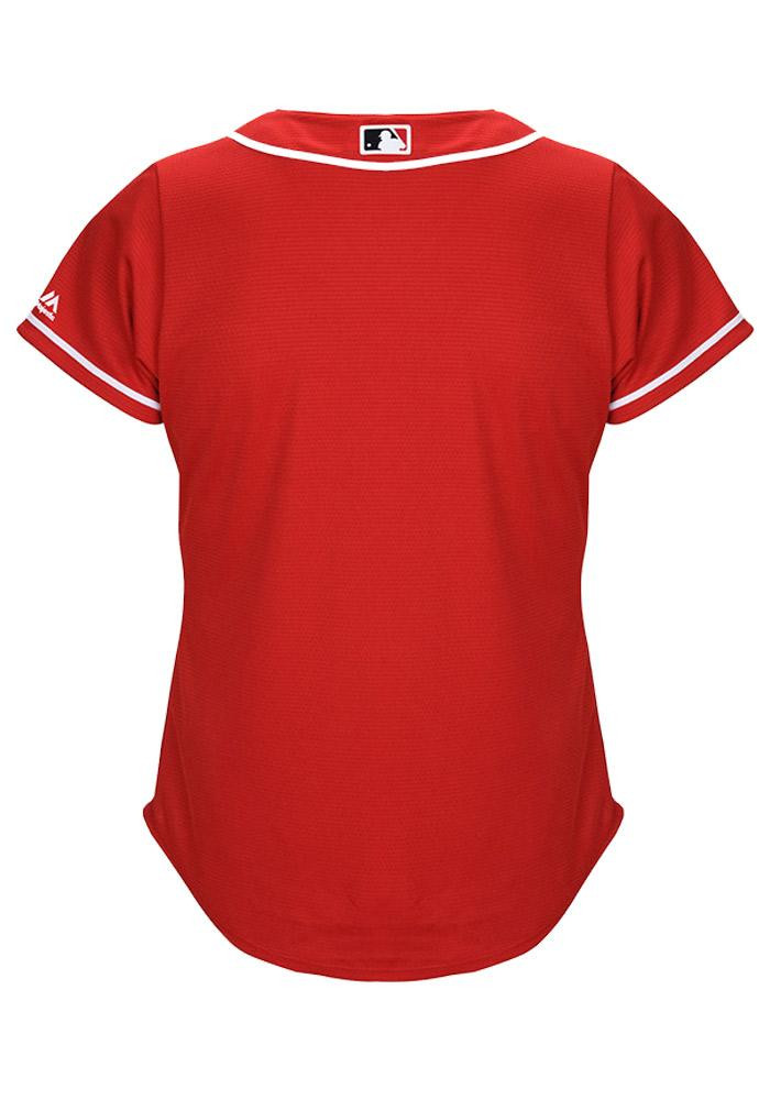 Cincinnati Reds Womens Majestic Replica Cool Base Jersey Jersey - Red - Image 3
