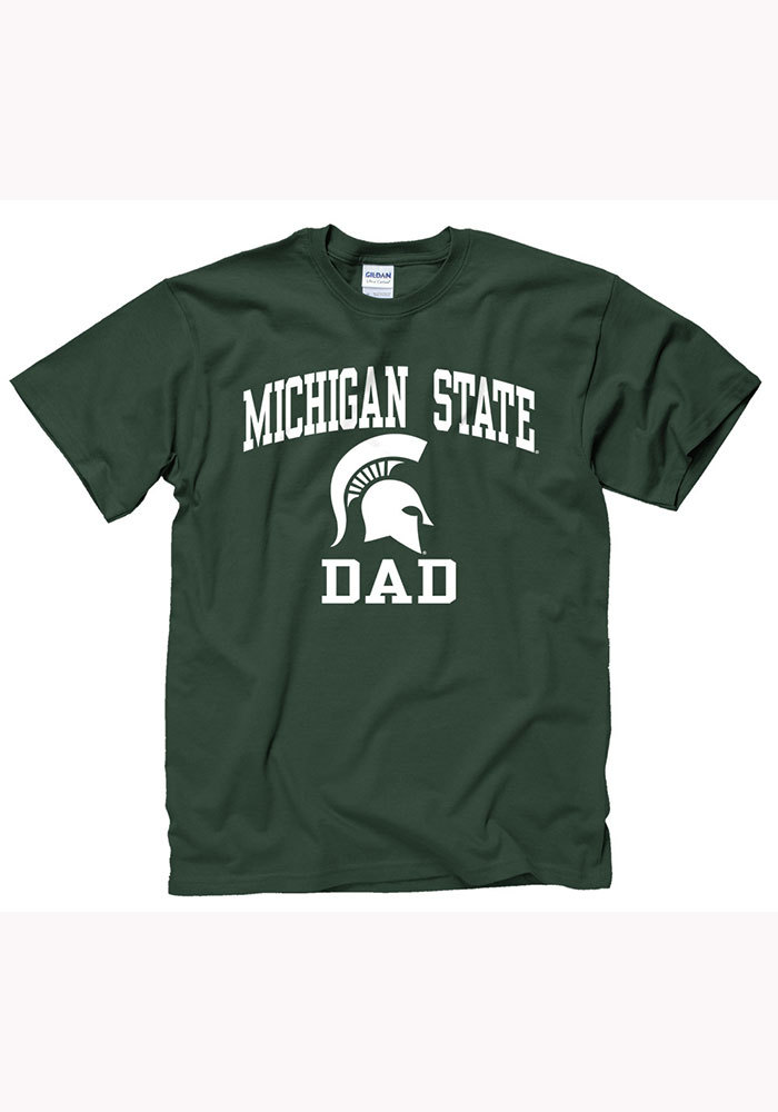 Michigan State Spartans Green Dad Short Sleeve T Shirt - Image 1