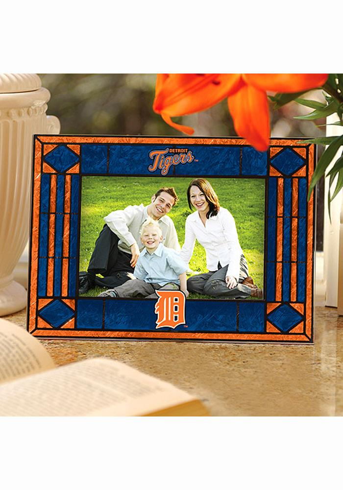 Detroit Tigers Art-Glass Horizontal Picture Frame - Image 1