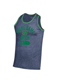 Notre Dame Fighting Irish Under Armour SMU Triblend Tank Top - Navy Blue