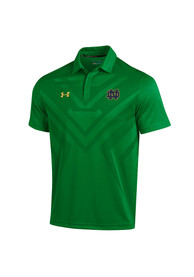 Under Armour Notre Dame Fighting Irish Mens Green Scout Polo Short Sleeve Polo Shirt