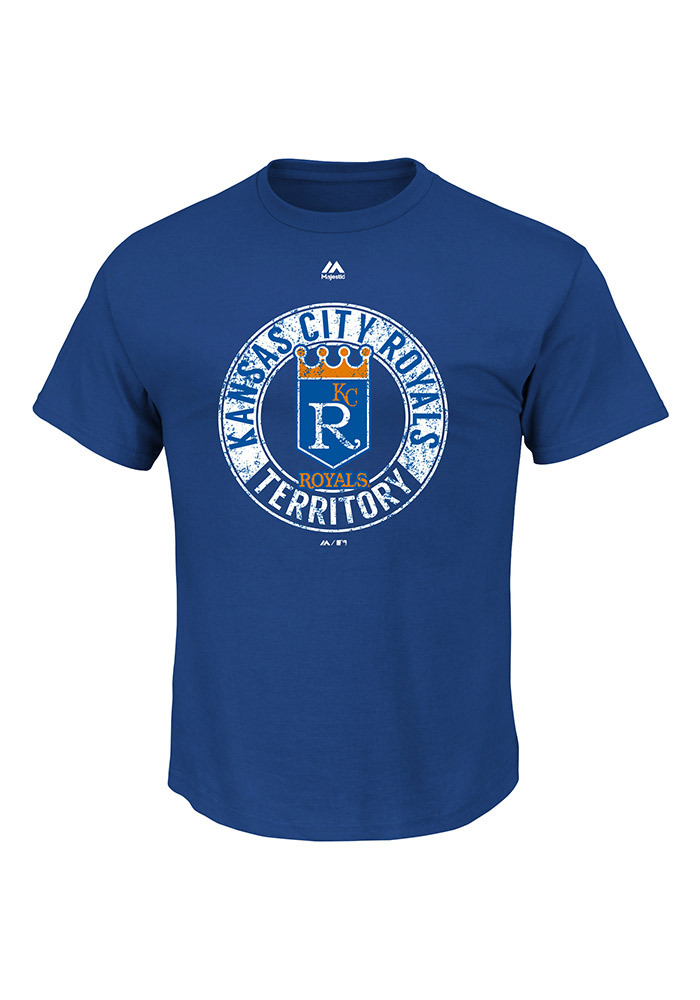 Majestic Kansas City Royals Blue Cooperstown Generating Wins Short Sleeve T Shirt - Image 1