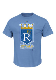Majestic Kansas City Royals Blue Cooperstown League Supreme Tee