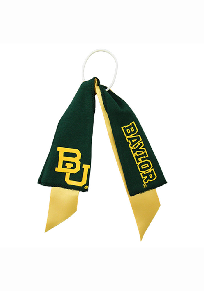 Baylor Bears Ponytail Youth Hair Scrunchie - Image 1