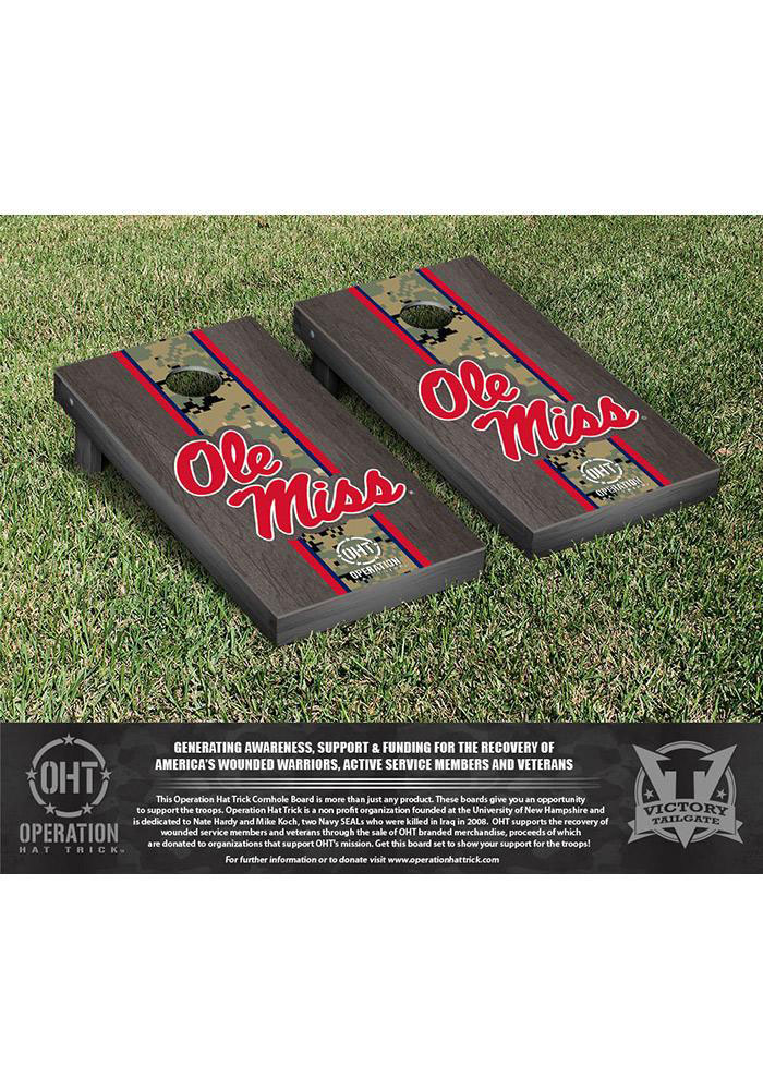 Ole Miss Rebels Cornhole Game Set Tailgate Game - Image 1