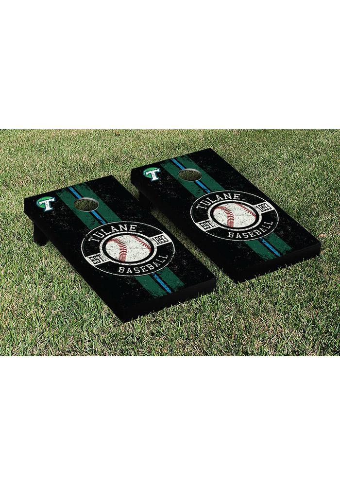 Tulane Green Wave Cornhole Game Set Tailgate Game - Image 1