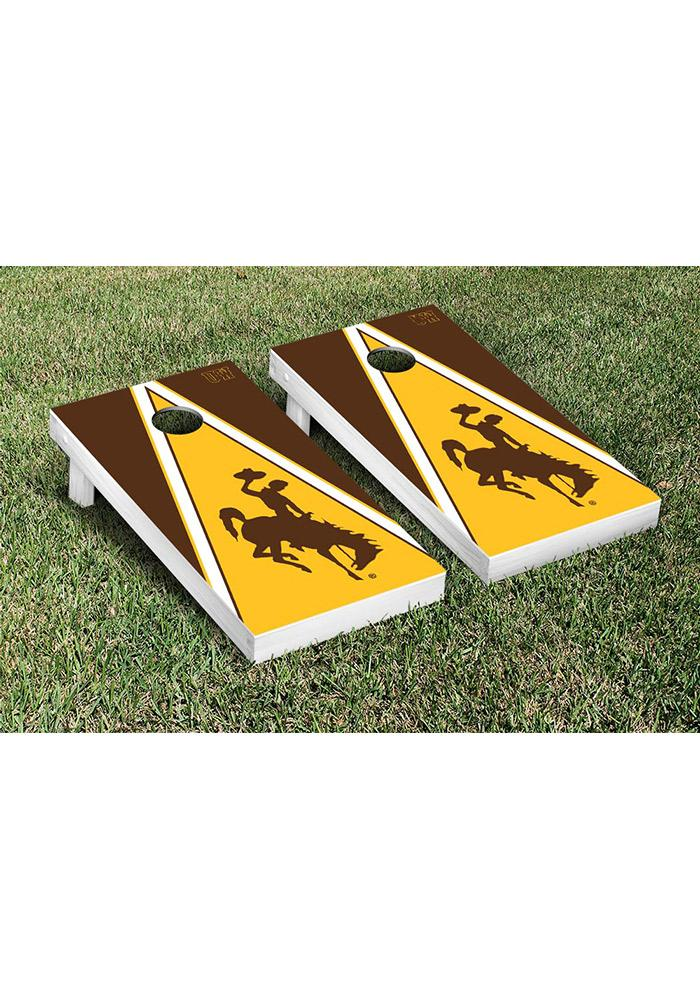 Wyoming Cowboys Cornhole Game Set Tailgate Game - Image 1